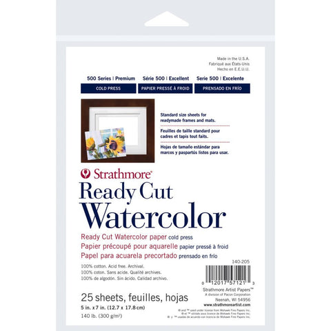 "Strathmore 500 Series Watercolor Paper Pack - 5"" x 7"""