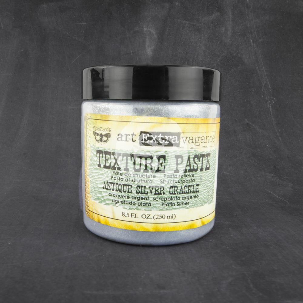 Finnabair, Art Extravagance Texture Paste, 8.5oz - Antique Silver Crackle