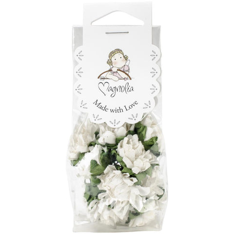 ***New Item*** Magnolia, Vintage Tinsel Dahlias, 10/Pkg - White