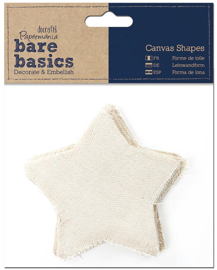Papermania Bare Basics Canvas Shapes - Star