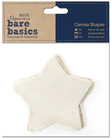 July4Special Papermania Bare Basics Canvas Shapes - Star