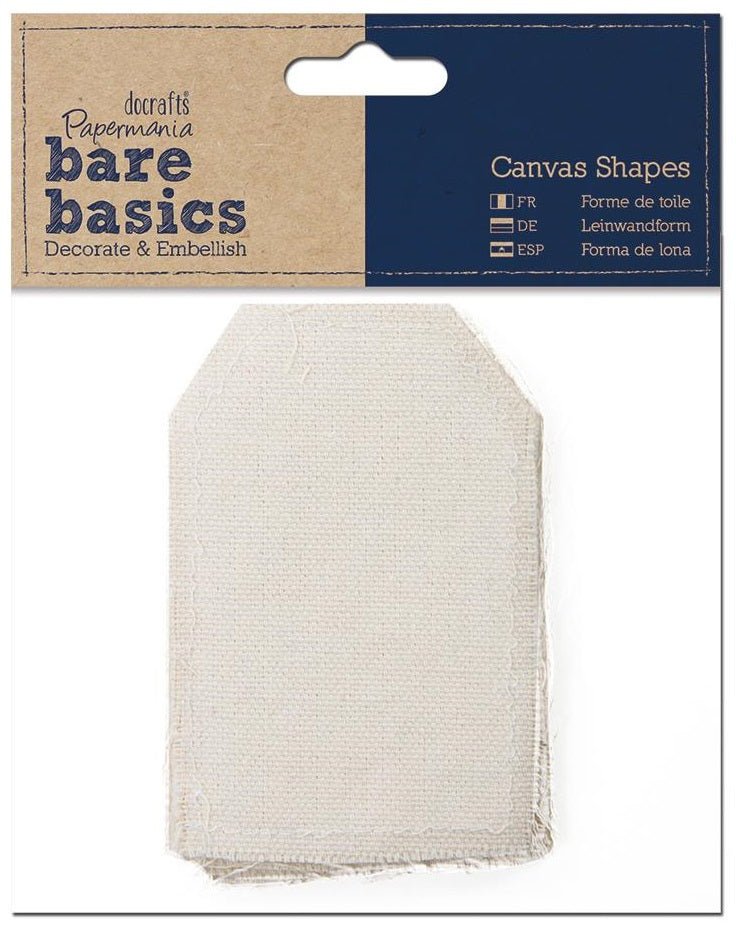 Papermania Bare Basics Canvas Shapes - Tag