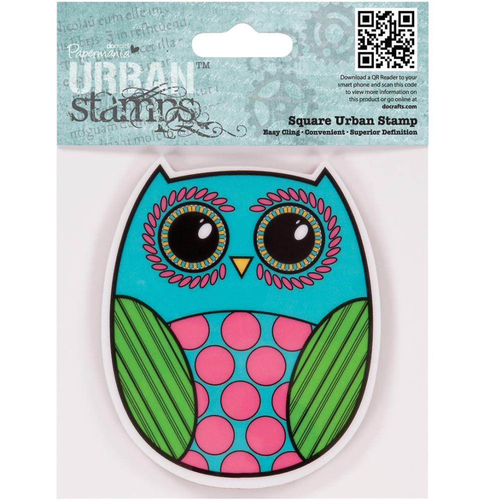 "Papermania Cling Urban Stamp 4""X4"" - Owl"