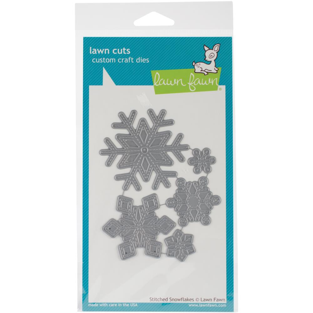 Lawn Cuts Custom Craft Die -Stitched Snowflakes