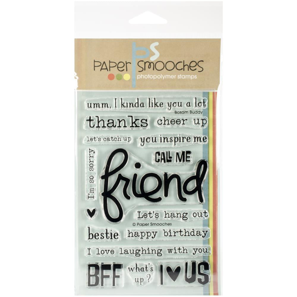 "Paper Smooches 4""X6"" Clear Stamps - Bosom Buddy"