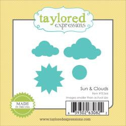 Taylored Expressions Little Bits Die - Sun & Clouds