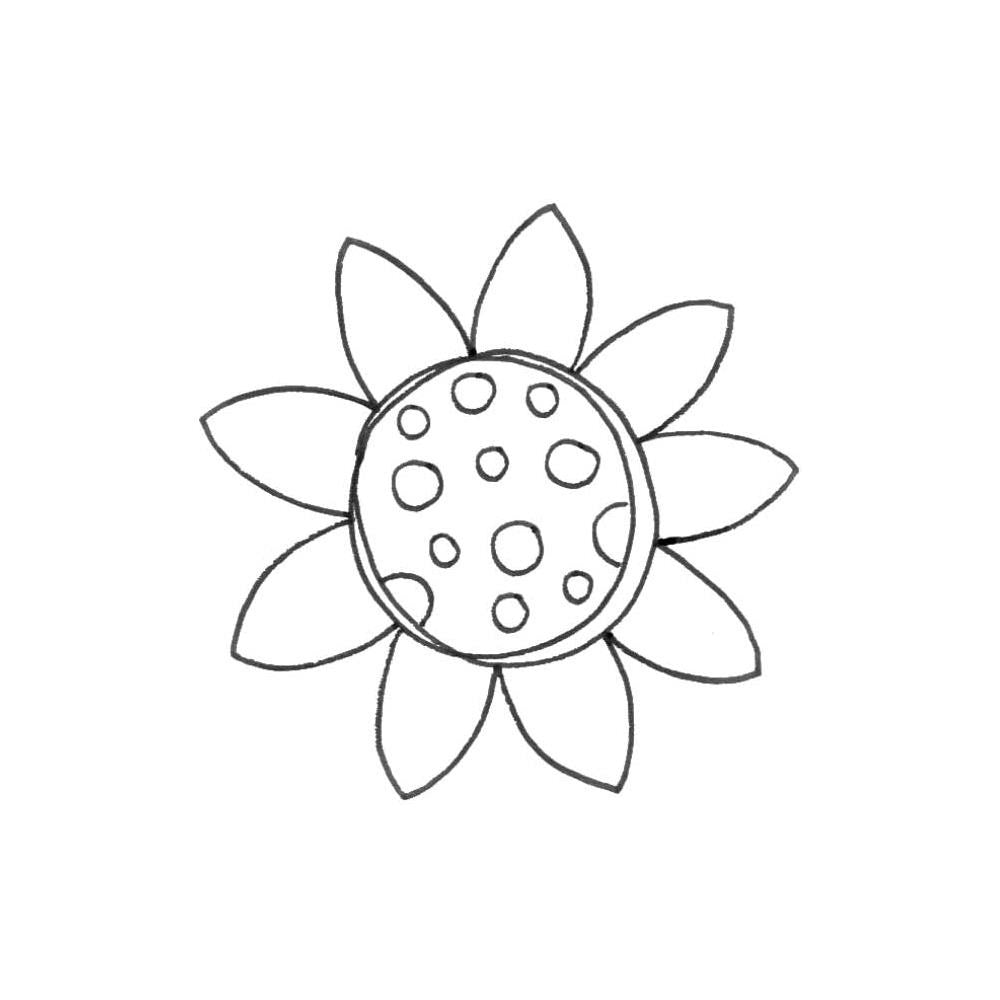 "Joggles Cling Stamp 2.75""x2.75"" - Scribble Flower #3"