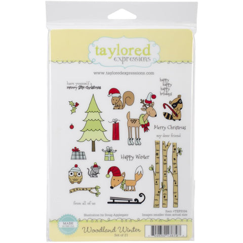 "Taylored Expressions Cling Stamp  5.5"" x 8.5"" - Woodland Winter (Coordinates with Woodland winter Die Set)"