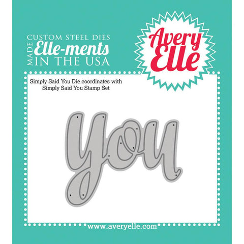 Avery Elle Ellements Die Set - Simply Said You