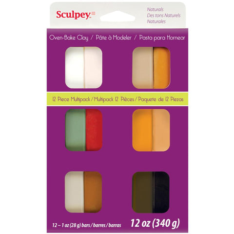 ***New Item*** Sculpey III Polymer Clay Multipack 1oz 12/Pkg - Naturals