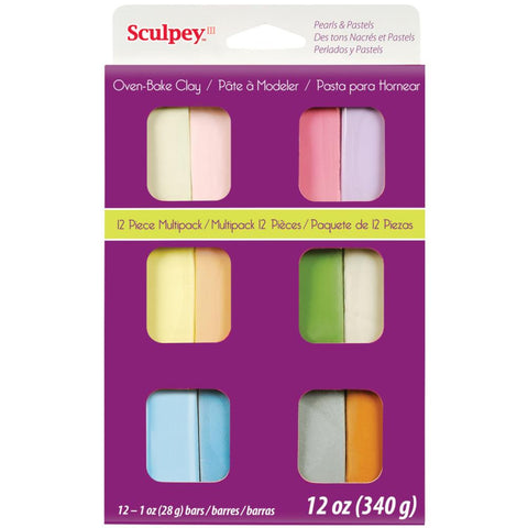***New Item*** Sculpey III Polymer Clay Multipack 1oz 12/Pkg - Pearls & Pastels
