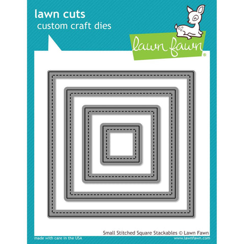 Lawn Cuts Custom Craft Die - Small Stitched Square Stackables