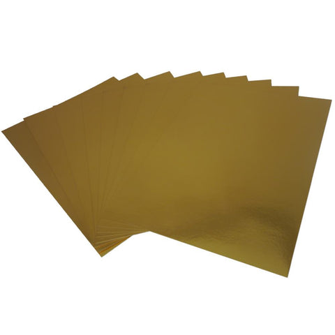 ***New Item*** Hunkydory, Mirri Super-Reflective A4 Cardstock 10/Pkg - Rich Gold
