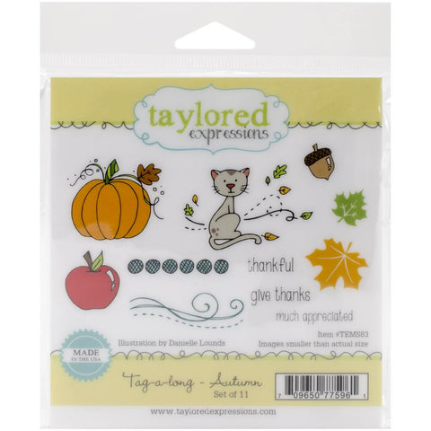 "Taylored Expressions Cling Stamp Set 4.25"" - Tag-A-Long  Autumn"