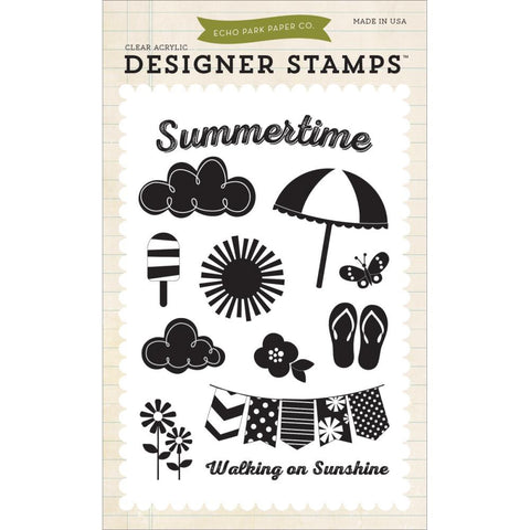 "Carta Bella Echo Park I Love Sunshine Stamp Set - 4"" x 6"""