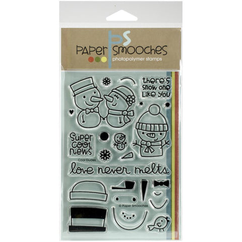 "Paper Smooches 4""X6"" Clear Stamps - Cool Dudes"