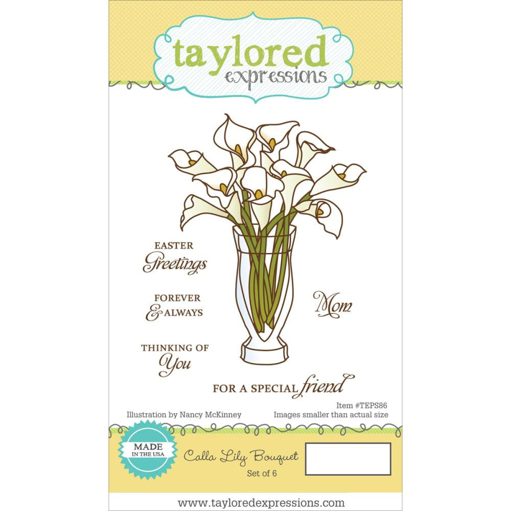 "Taylored Expressions Cling Stamp  5.5"" x 3"" - Calla Lily (Coordinates with Calla Lily Die Set)"
