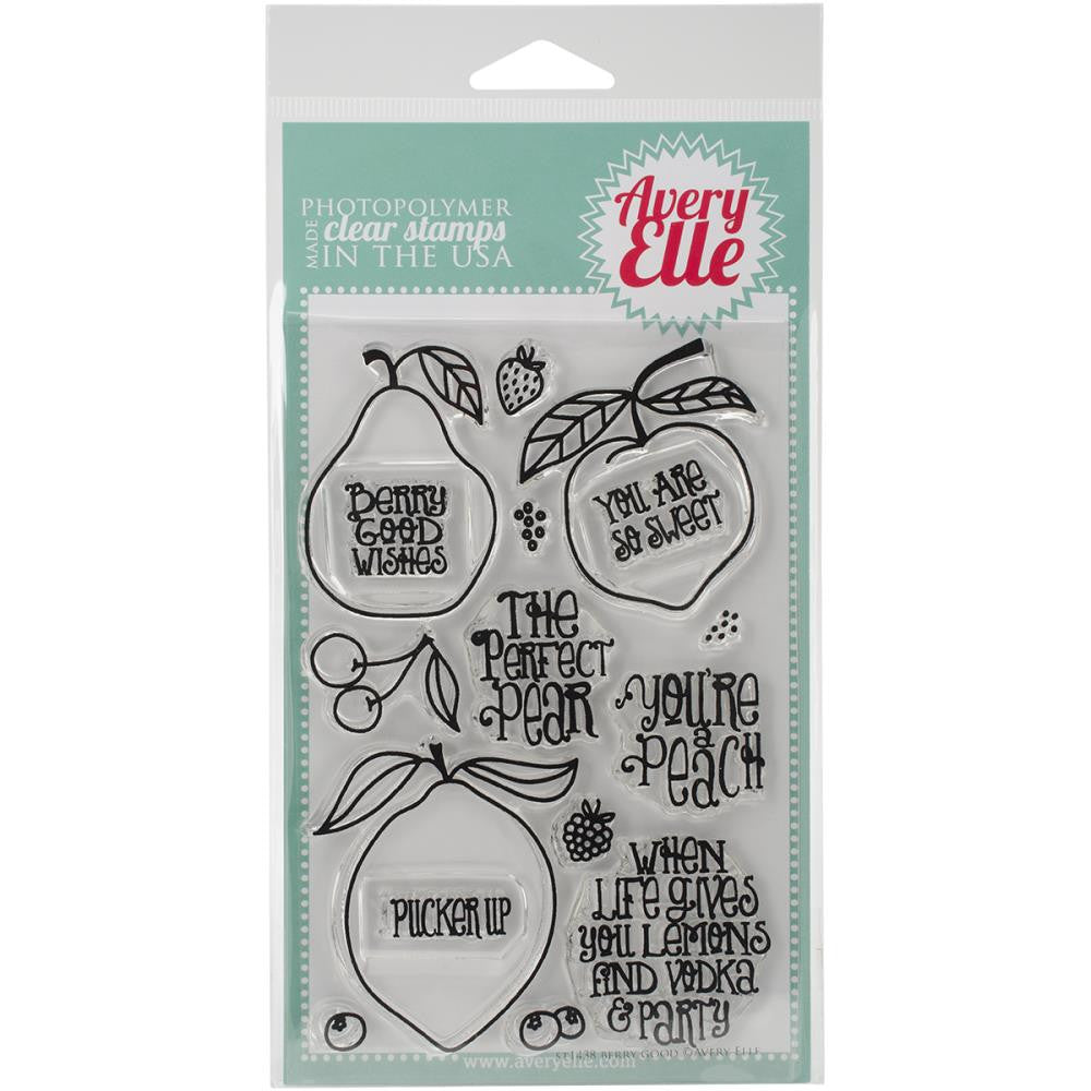 "Avery Elle Clear Stamp Set 4""X6"" - Berry Good"