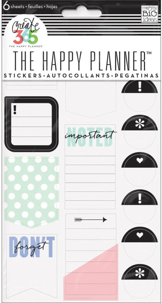 Me & My Big Ideas - Create 365 The Happy Planner Stickers - Don't Forget