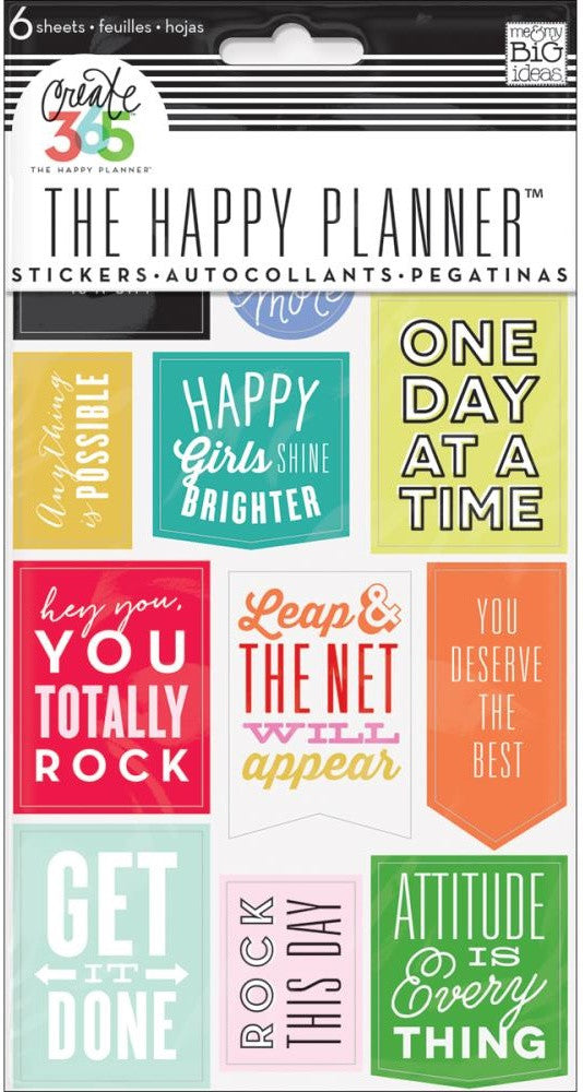 Me & My Big Ideas - Create 365 The Happy Planner Stickers - Show Up