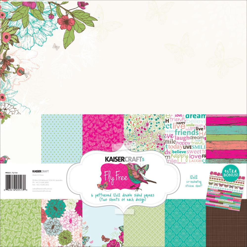 "Kaisercraft Paper Pack 12""X12"" - Fly Free"