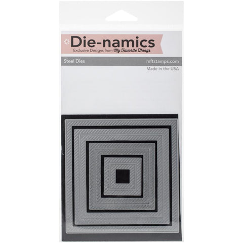 Die-Namics Dies -STAX Dies - Inside and Out Diagonal Stitched Square