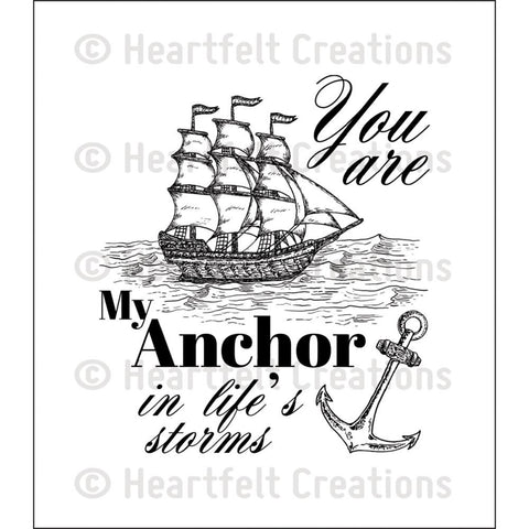 "Heartfelt Creations Cling Rubber Stamp Set 5""X6.5"" - My Anchor"