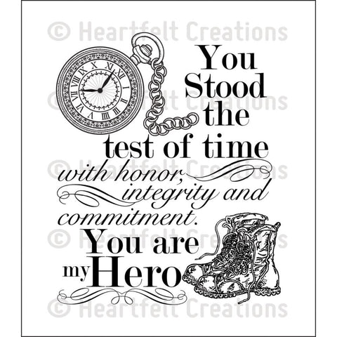 "Heartfelt Creations Cling Rubber Stamp Set 5""X6.5"" - My Hero"