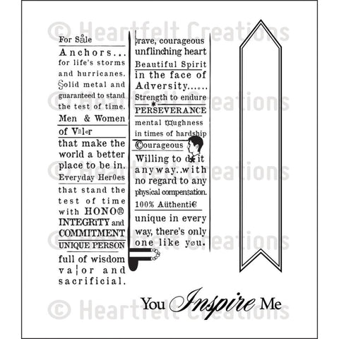 "Heartfelt Creations Cling Rubber Stamp Set 5""X6.5"" - Newsprint"