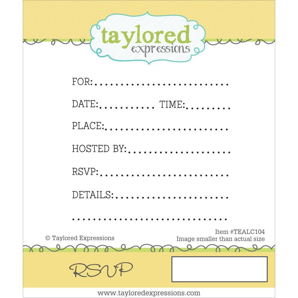 "Taylored Expressions Cling Stamps 2.25"" x 3"" - RSVP"
