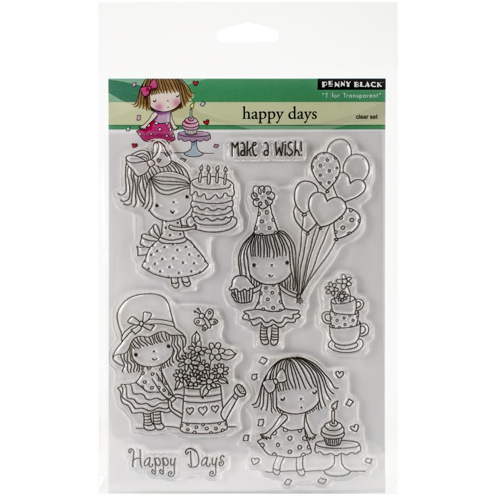 Penny Black Clear Stamp Sheet - Happy Days