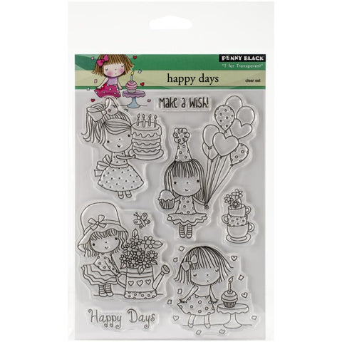 "***New Item*** Penny Black Clear Stamp, 5""X7"" Sheet - Happy Days"