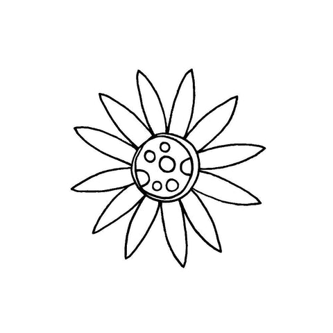 "Joggles Cling Stamp 1.75""x1.75"" - Scribble Flower #5"