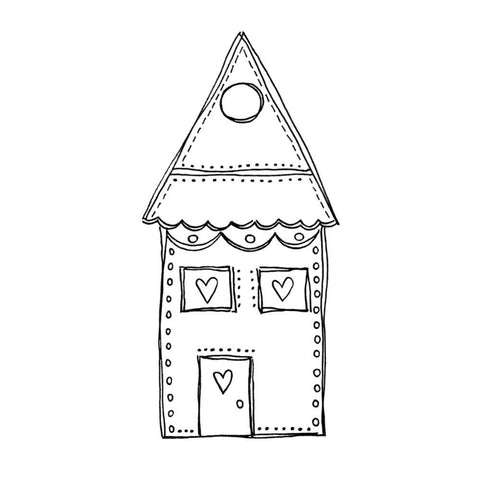 "Joggles Cling Stamp 1.5"" x 3.25"" - Wonky House #5"