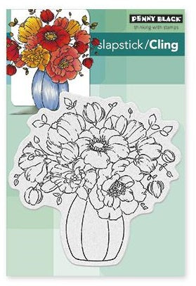 Penny Black Cling Rubber Stamp Sheet - Centerpiece
