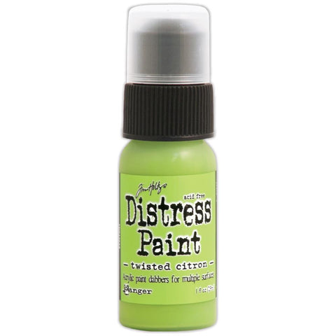 Ranger Tim Holtz Distress Paint 1oz Bottle - May Color of the Month - Twisted Citron