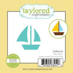 Taylored Expressions Little Bits Die - Sailboat