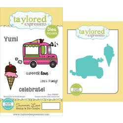 "Taylored Expressions Cling Stamp & Die Set 5.5""X3"" - Summer Lovin'"
