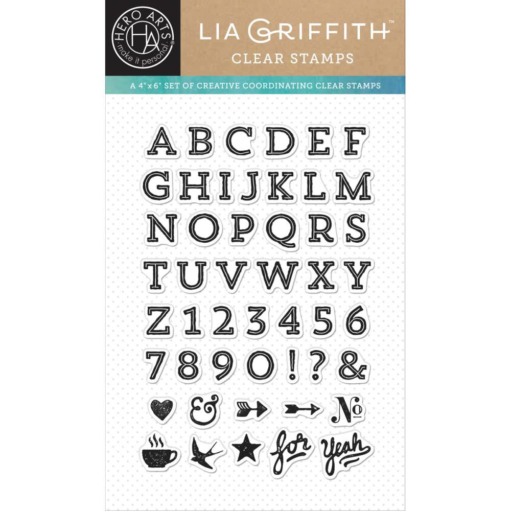 "Hero Arts - Clear Stamp - 4"" x 6"" - Lia Griffith Vaulted Letters"