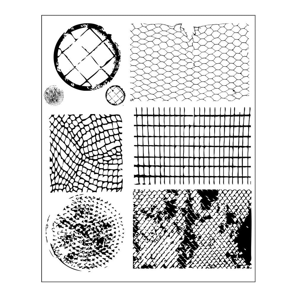 "Prima - Finnabair Cling Stamps 6""X7.5"" - Net & Wire"