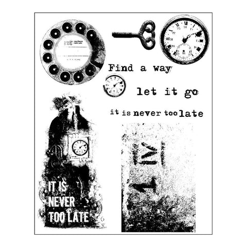"Prima - Finnabair Cling Stamps 6""X7.5"" - Never Too Late"