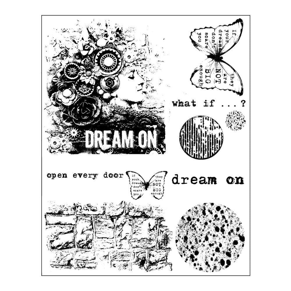 "Prima - Finnabair Cling Stamps 6""X7.5"" - Dream On"