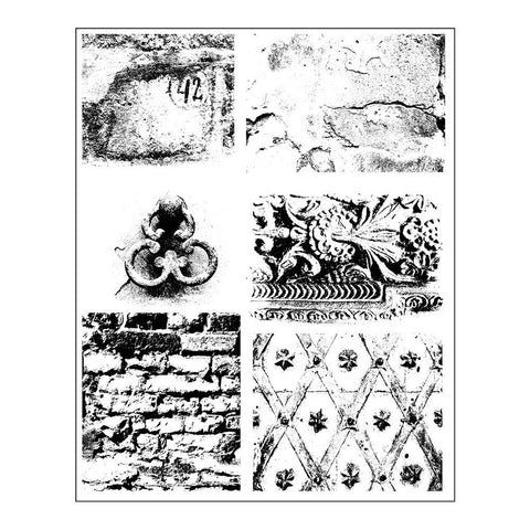 "Prima - Finnabair Cling Stamps 6""X7.5"" - Dirty Walls"