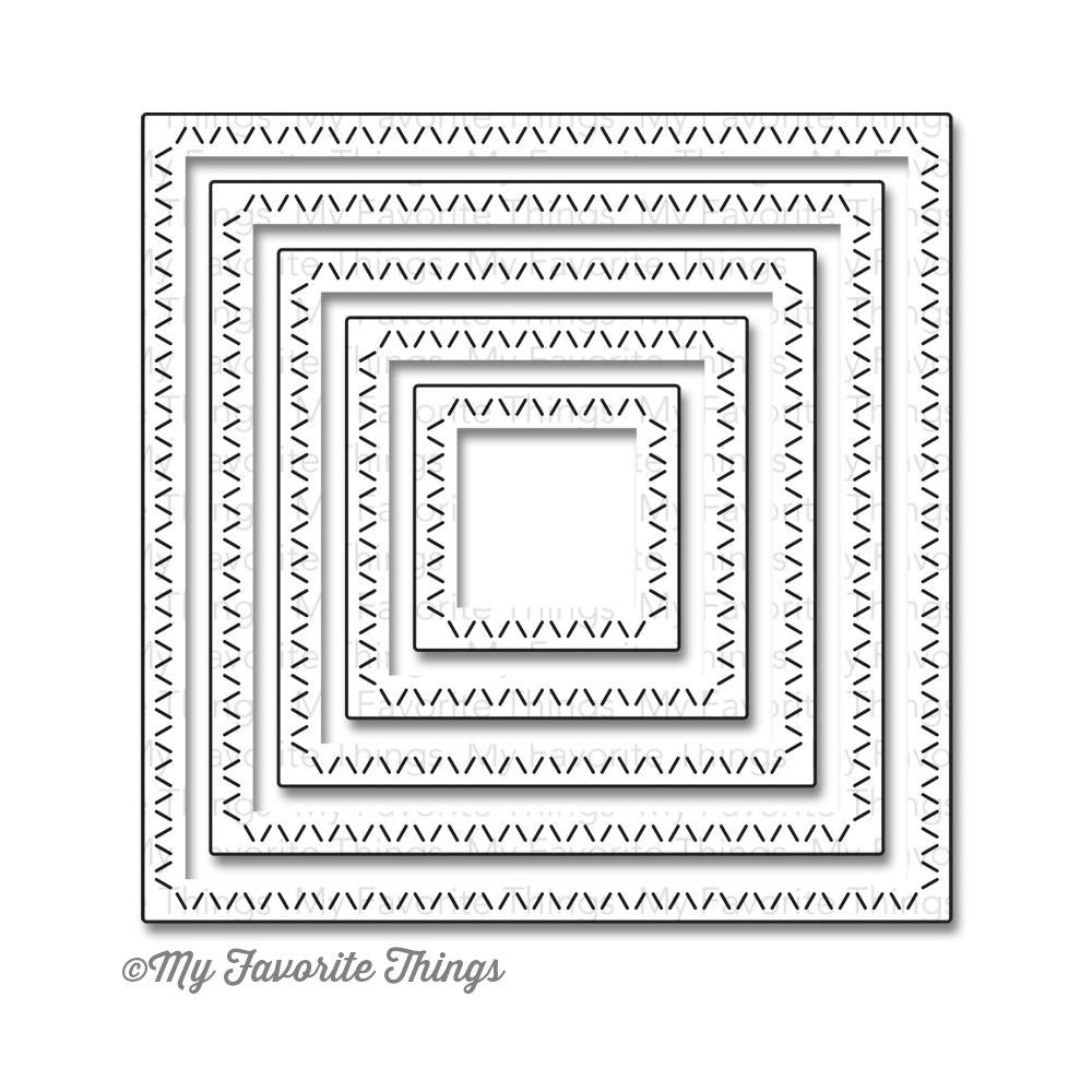 My Favorite Things Die-Namics Dies STAX Dies - Zig Zag Stitched Square