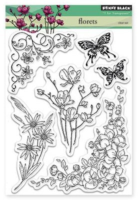 Penny Black Clear Stamp Sheet - Florets