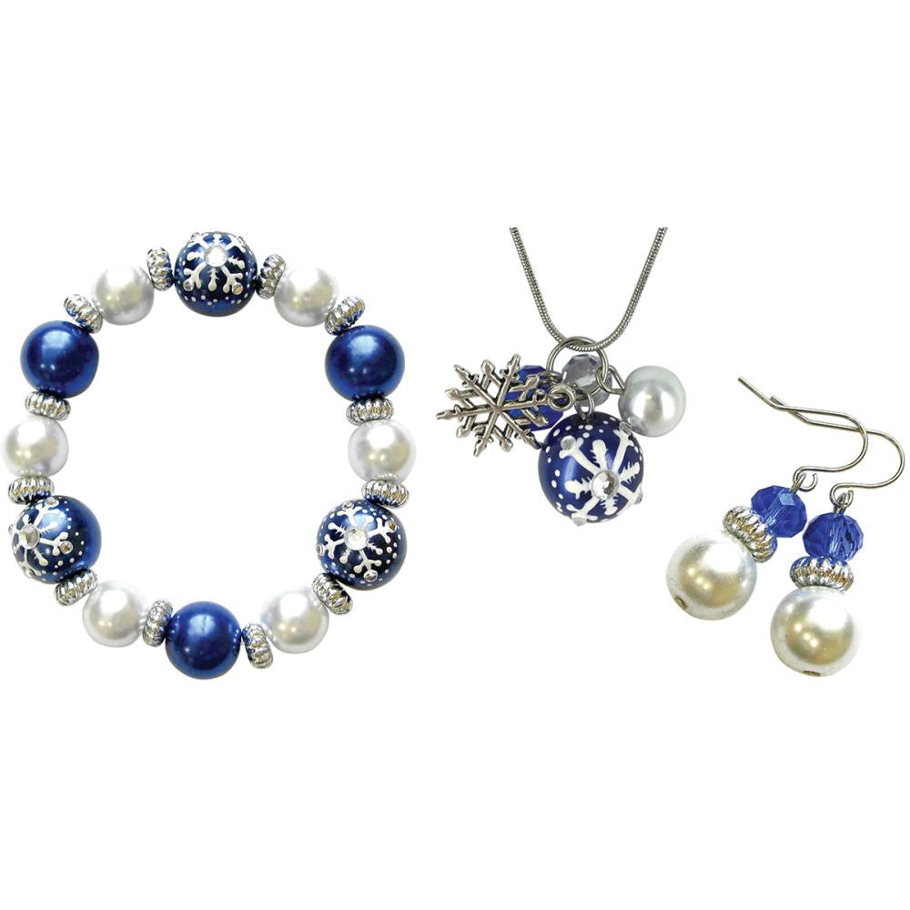 Holiday Bead Kit - Christmas - White & Blue
