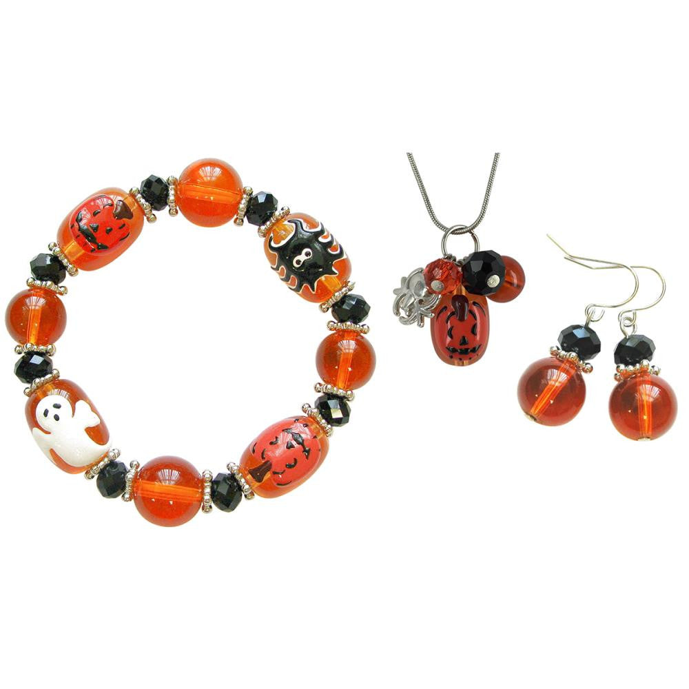 Holiday Bead Kit - Halloween - Black & Orange