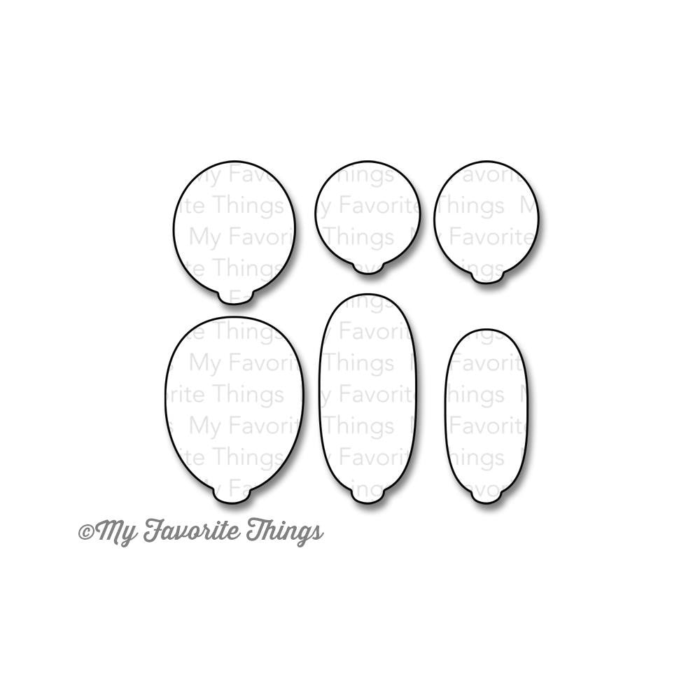 "Die-Namics - Birthday Wishes and Balloons (Coordinates with ""Birthday Wishes and Balloons Stamp Set - coming soon)"