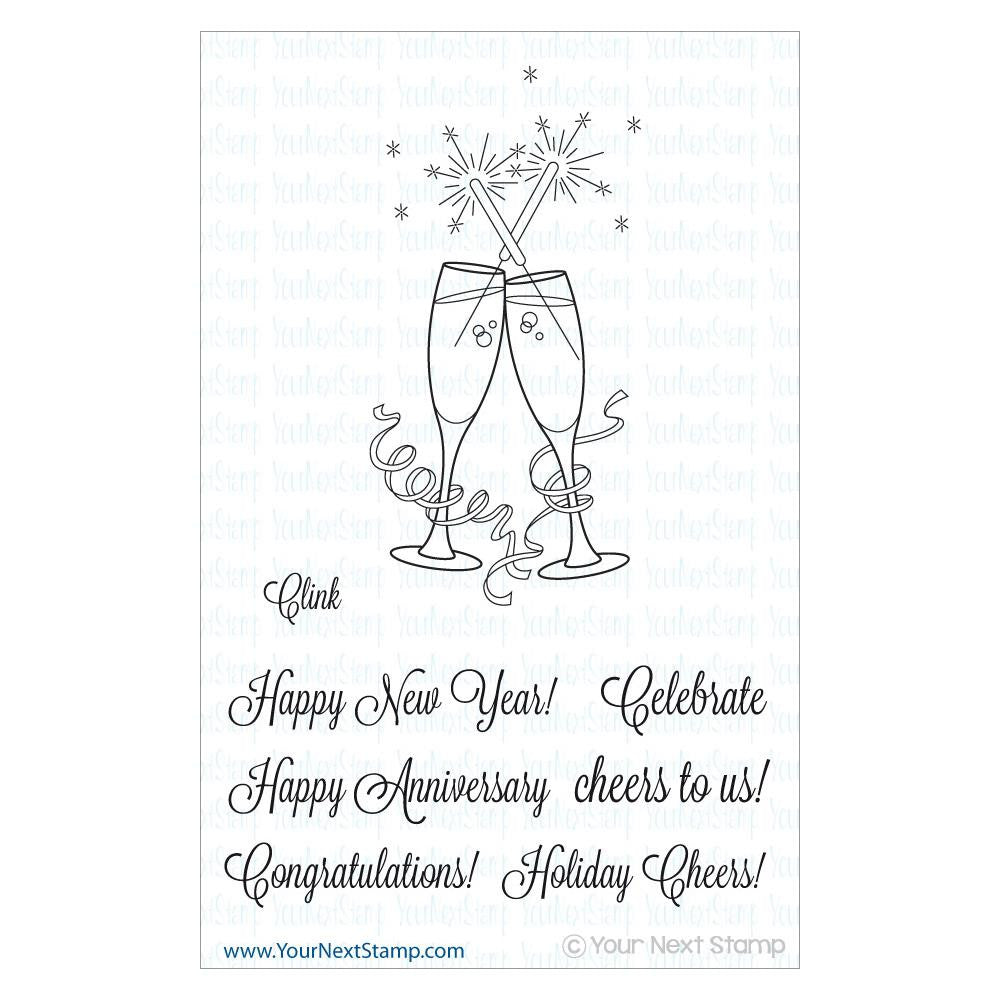 "Your Next Stamp Clear Stamp 4"" x 4"" - Clink"