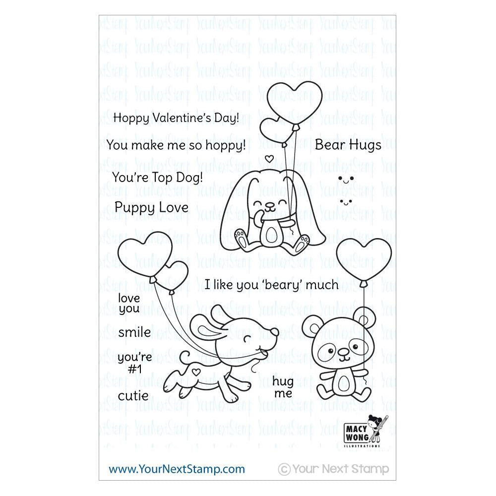 "Your Next Stamp Clear Stamp 4"" x 4"" - Love & Smiles"